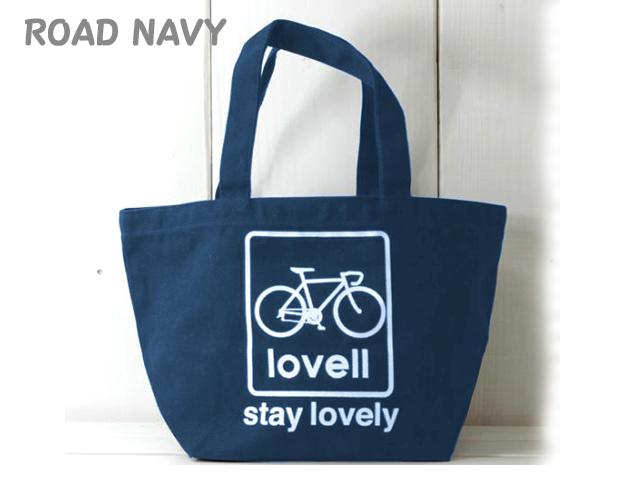 ランチバッグ かわいい お弁当 昼食 自転車通勤通学 ラベル lovell/自転車柄/ミニトートバッグ/ランチトート/トートバッグ/サブバッグ/エコバッグ