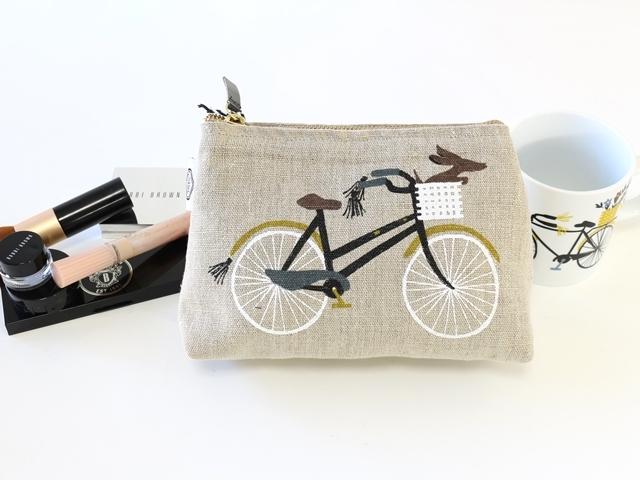 自転車柄,ポーチ かわいい,ポーチ 小物入れ,ポーチ 大きめ,コスメポーチ 仕切り,小物入れ ポーチ,ダニカ,Danica,コスメポーチ Bicicletta