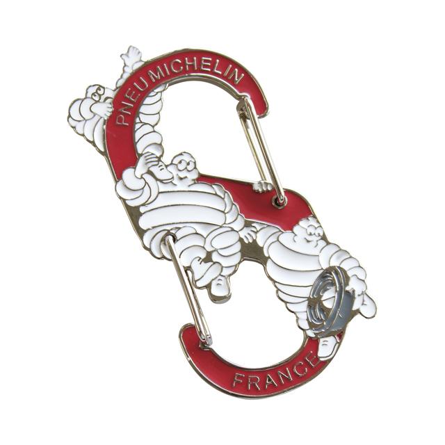 ミシュラン ビバンダム S字 カラビナキーホルダー 自転車モチーフ キーリング 自転車 アクセサリー 自転車雑貨 S-Karabiner