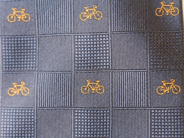自転車,おしゃれ,自転車ネクタイ,自転車柄モチーフネクタイ,かわいい,プレゼント,高品質西陣織,京都・西陣織ネクタイ,メンズ,オシャレ