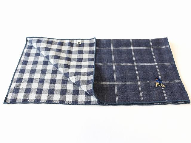ハンカチ プレゼント ハンカチーフ おしゃれ 自転車 モチーフ 綿100% ダブルガーゼ 男性用 贈り物 ギフト かわいい 自転車刺繍