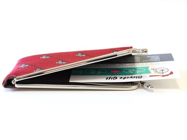 がま口カードケース ブランド/刺入れ 男性/カードケース メンズ/レディース/プレゼント/おしゃれ/自転車柄/自転車モチーフ/サイクル