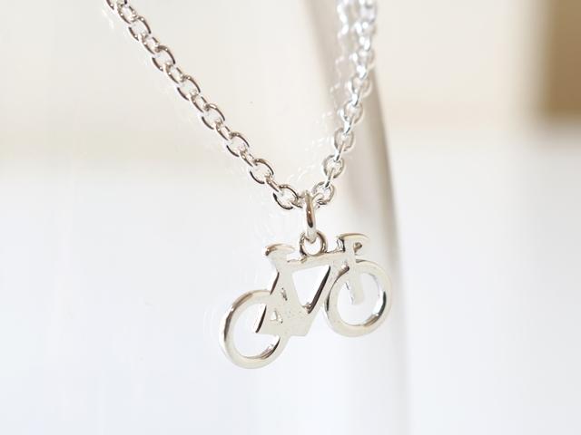ネックレス メンズ シンプル/ネックレス シルバー929/自転車 モチーフ/ロードバイク/ホイール/バイクチェーン/彼女 妻 プレゼント