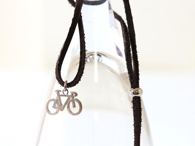 自転車 ネックレス メンズ シンプル/革 レザー/革ひも/革紐 チョーカー/プレゼント/レディース/自転車女子ウケ/自転車モチーフ 好き