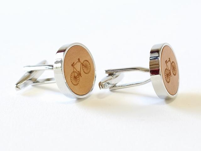 自転車カフス カフリンクス ボタン カフスボタン バイシクル 自転車柄 自転車モチーフ おしゃれ  メンズ  ビジネス 結婚式 プレゼント