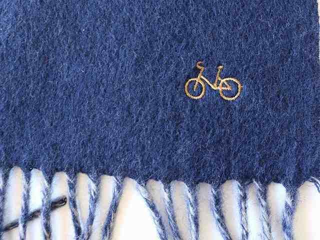 ストール 大判 厚手 ストール マフラー ポンチョ 無地 秋冬 かわいい 自転車 自転車柄 刺繍 メンズ レディース 北欧 おしゃれ 冬物