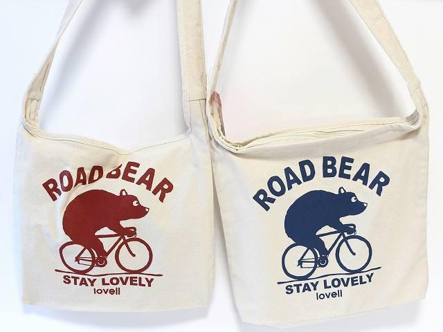 自転車 サコッシュ ショルダーバッグ かわいい 自転車通学 12way ロードベア road bear lovell モチーフ レディース