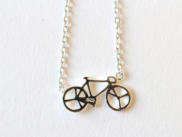 送料無料 自転車 ブレスレット SV925 ジュエリー シルバー926 ブレス メンズ レディース 自転車モチーフ ペンダント サイクリング