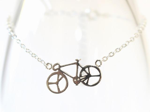 送料無料 自転車 ブレスレット SV925 ジュエリー シルバー925 ブレス メンズ レディース 自転車モチーフ ペンダント サイクリング