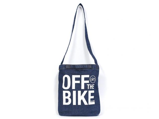 lovell デニムショルダーバッグ 2way サコッシュバッグ 自転車 ロードバイク 可愛い 自転車柄 自転車モチーフ おしゃれ レディース