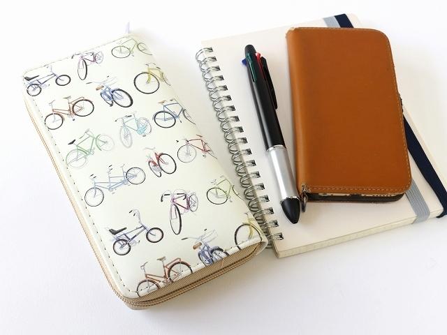 お洒落 長財布 レディース さいふ 可愛い かわいい カワイイ 自転車柄 おしゃれ 自転車モチーフ 自転車デザイン オシャレ プレゼント