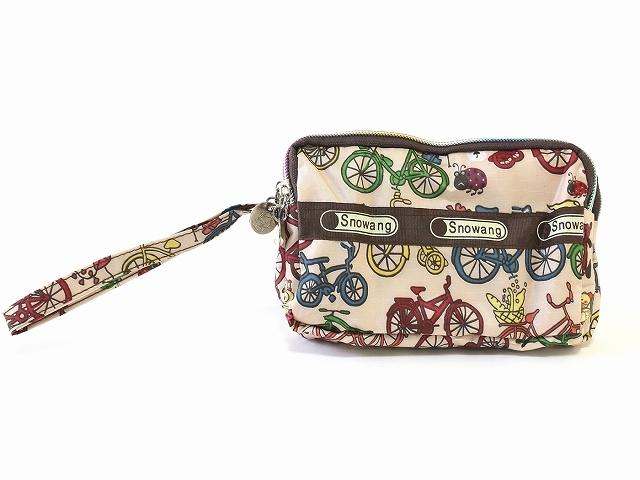お洒落 オシャレ ポーチ 可愛い自転車柄 化粧 コスメポーチ バッグ 小物入れ 収納 かわいい 自転車モチーフ 雑貨 メンズ レディース