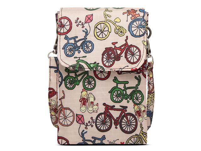 斜め掛けミニバッグ 多機能 マルチポーチ  自転車柄 化粧 コスメポーチ バッグ かわいい 自転車モチーフ 雑貨 メンズ レディース