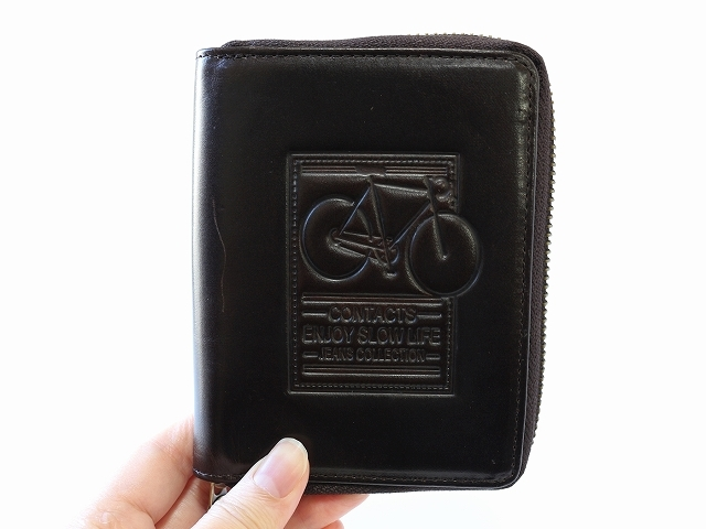 財布 メンズ 二つ折り ファスナー 小銭入れあり 革 安い 人気ランキング メンズ ウォレット 自転車 牛革 ビンテージ レトロ 自転車柄