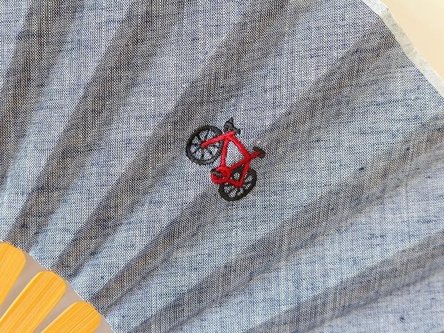扇子 女性用 男性用 おしゃれ メンズ 自転車 かわいい 自転車柄刺繍 オリジナル 自転車モチーフ  扇子セット 母の日 プレゼント 贈り物