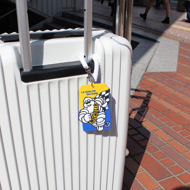 パスケース キャラクター かわいい MICHELIN ミシュラン/レディース メンズ/伸びる ネームタグ スーツケース トラベル ラゲージ