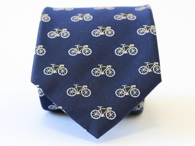 2018 春夏 新作 父の日プレゼント ネクタイ ピン ブランド 結婚式 おしゃれ 自転車柄ネクタイ 人気 モチーフ  可愛い 自転車 刺繍