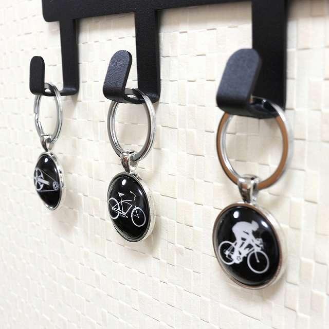 自転車キーホルダー 自転車モチーフ バッグチャーム 鍵 キーリング (サイクルリスト)