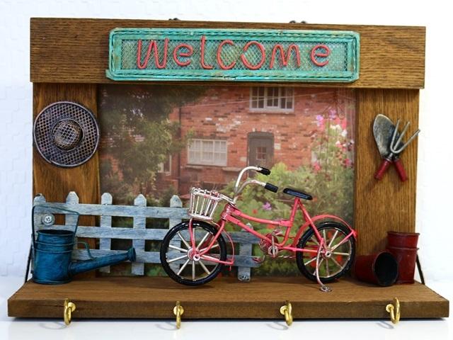 自転車ビンテージ ウォールデコ 自転車壁飾り
