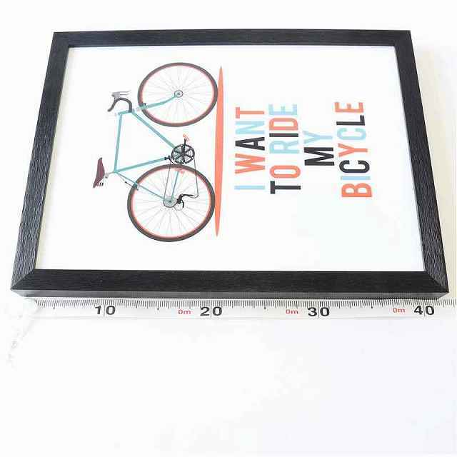 自転車 アートパネル アートポスター 自転車柄 ブラック アートフレーム アンティーク 自転車看板 自転車の絵 ポスター