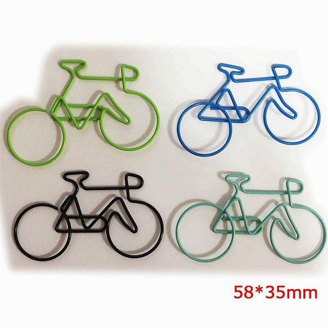 クリップ かわいい 自転車 カラフル 大きめ 自転車モチーフ 自転車雑貨 アンティーク