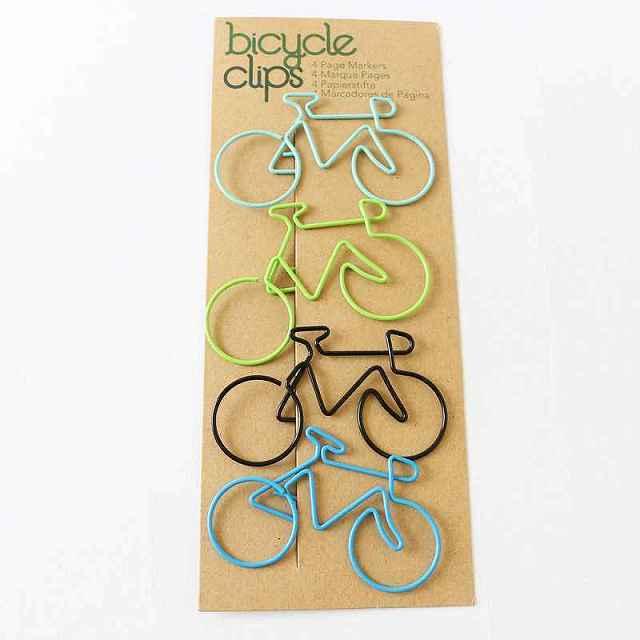 バイシクル クリップ 自転車 カラフル 大きめ 自転車モチーフ 自転車雑貨