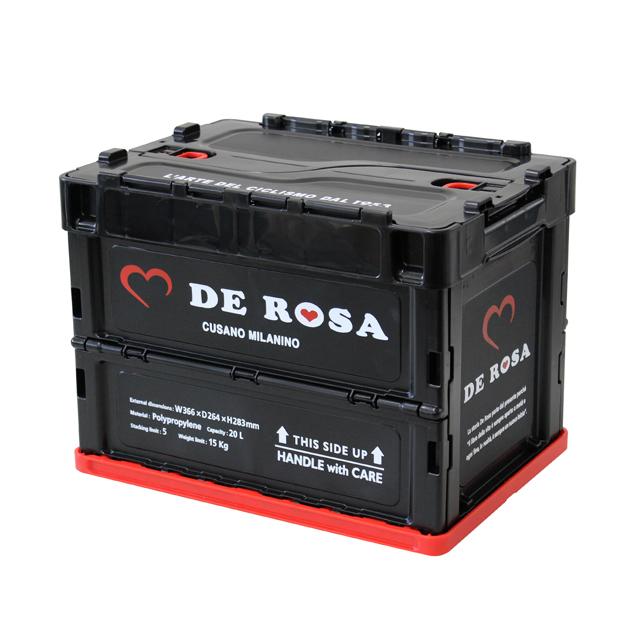 DE ROSA(デ ローザ)デローザ コンテナ 折り畳み式 ガレージ インテリア おしゃれ 自転車 レトロ 北欧 自転車好き ハート柄