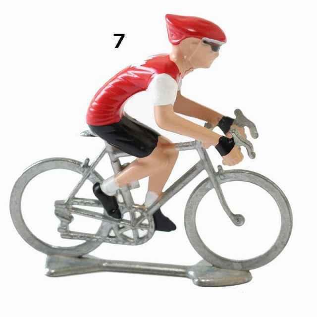 自転車 ミニチュア ロードレーサー サイクリスト 自転車選手 フィギュア インテリア