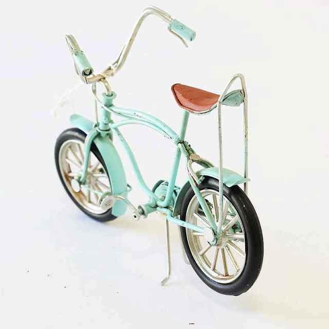 ノスタルジックデコ ローライダー バイシクル ブリキカー 自転車 ミニチュア ガレージ 自転車モチーフ 模型 自転車好き雑貨