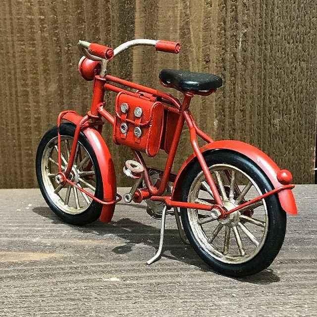 自転ミニチュア ビンテージ 置物 ミニチュア おもちゃ インテリア雑貨ヴィンテージ グッドオールド Messenger Bicycle