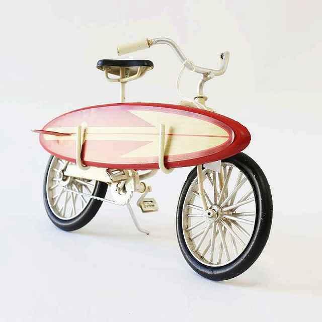 ノスタルジックデコ BIG ビーチクルーザー サーフバイシクル ブリキカー ビーチクルーザー自転車 ミニチュア