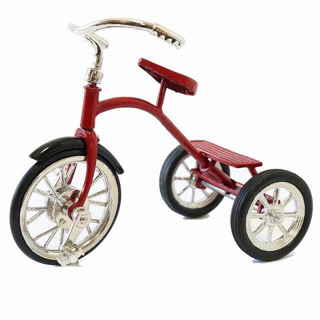 三輪車 三輪車モチーフ ミニチュア三輪車 自転車置物 テーブル 机 部屋 インテリア 可動式 昔ながらの三輪車模型 オーナメント かわいい