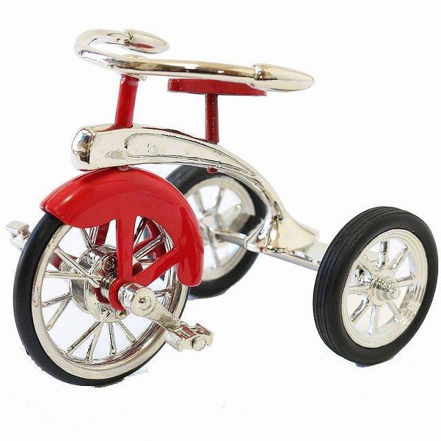 自転車 三輪車 三輪車モチーフ ミニチュア三輪車 自転車置物 テーブル 机 部屋 インテリア