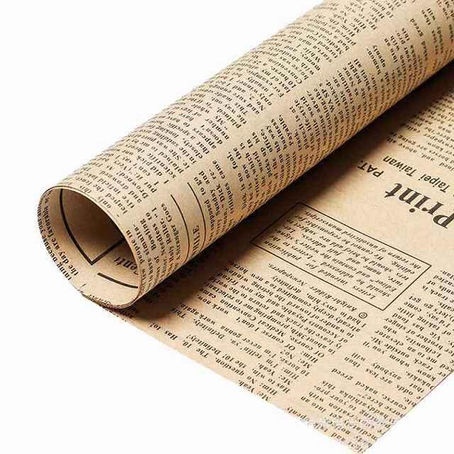 英字新聞紙柄 包装紙 ラッピング用品 ラッピングペーパー 40枚 紙 ギフトラッピング 包装資材 梱包材 贈り物 プレゼント