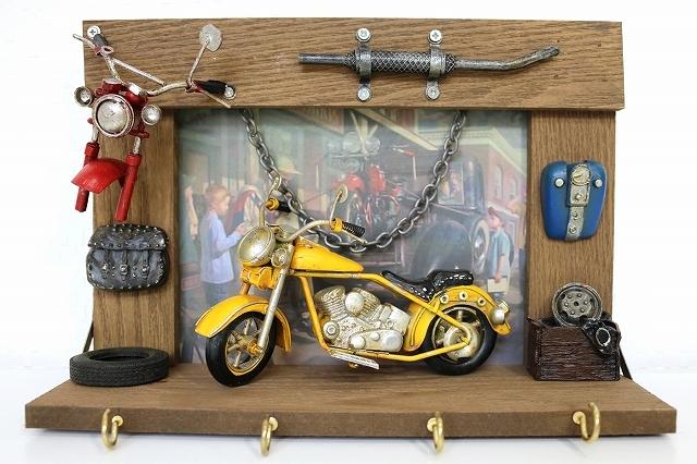 ウォールフック キーフック 小物 壁掛け 2連 玄関 お洒落 インテリア かわいい 自転車モチーフ 雑貨 ビンテージ看板  プレゼント