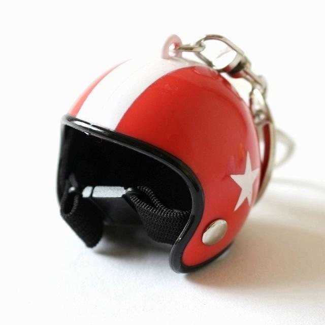 バイク ヘルメットキーホルダー  キーリング バッグ チャーム アクセサリー ジェットヘルメットタイプ