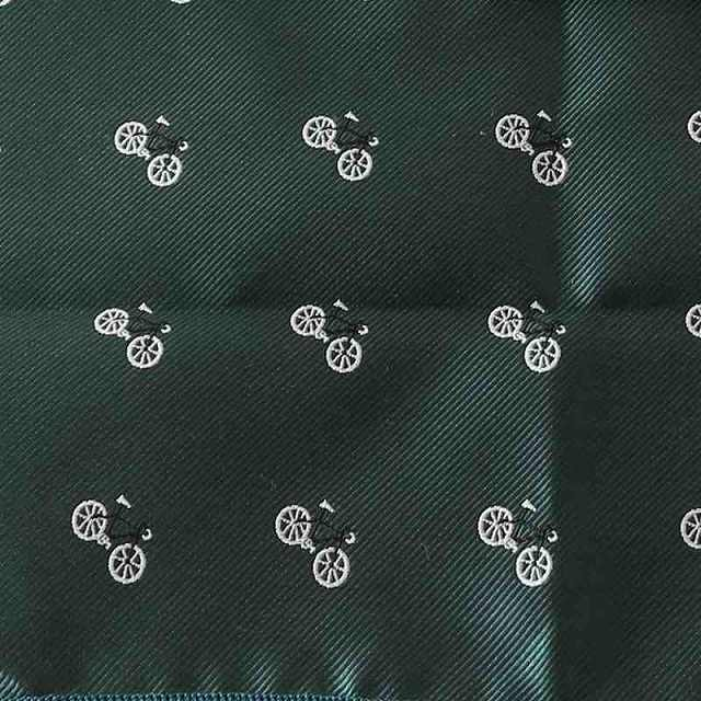 自転車 ポケットチーフ 自転車柄 ポケットチーフ 自転車好きな方へ 結婚式 自転車刺繍 自転車ギフト