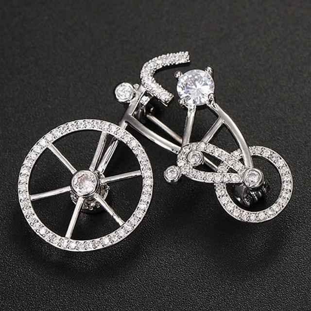ラインストーン 自転車 ブローチ だるま ダルマ ブローチピン 自転車ブローチ ピンアクセサリー