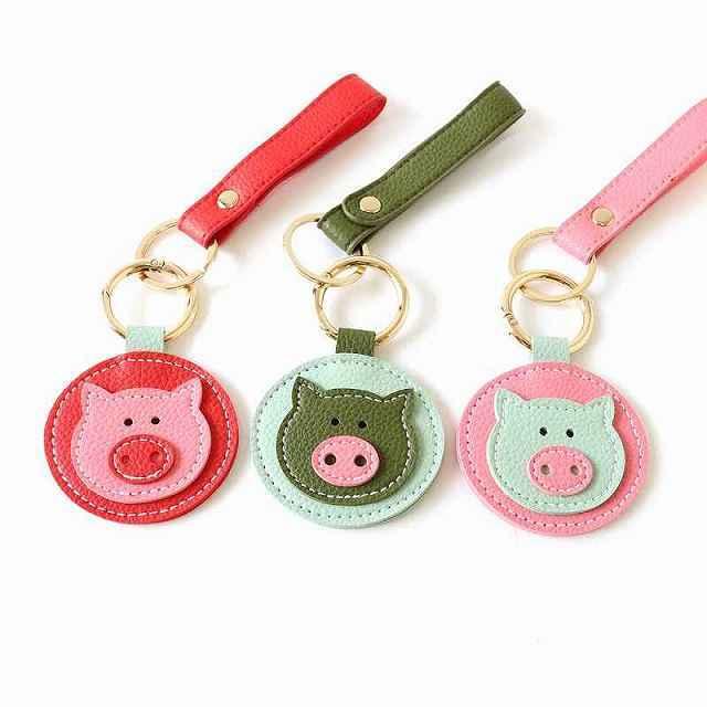 幸せを呼ぶブタ・キーホルダー ブタ 幸せ ブタ 動物 ぶた 豚 とん 子豚 ピッグ(ブタちゃん)アニメ 萌えグッズキーホルダー