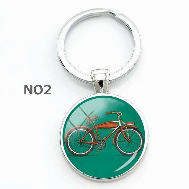自転車柄 キーホルダー 自転車 雑貨 自転車 ギフト 自転車好き ロードバイク 自転車モチーフ キーリング 雑貨 自転車 グッズ プレゼント