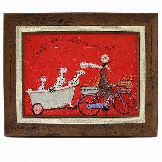 自転車ポスター ゲル加工 自転車 レトロ アートポスター 自転車アートフレーム 北欧インテリア パネル サムトフト ドンド ディリダリー