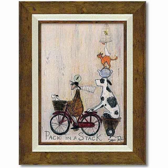絵画 サムトフト「パック イン スタック」 額入り アートフレーム 自転車 ポスター