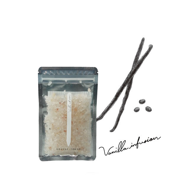 GRASSE TOKYO(グラーストウキョウ) Fragrance Salt 60g Vanilla infusion (バニラインフュージョン)