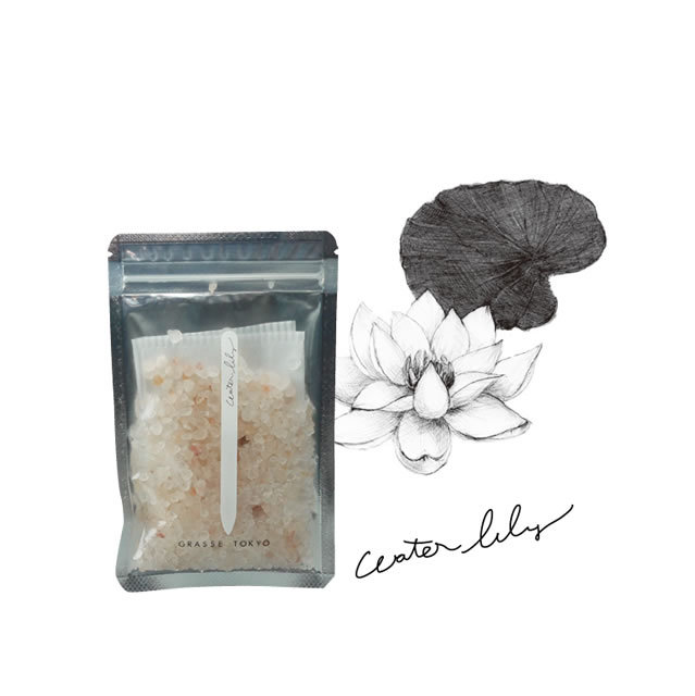 GRASSE TOKYO(グラーストウキョウ) Fragrance Salt  60g Water Lily(ウォーターリリー)
