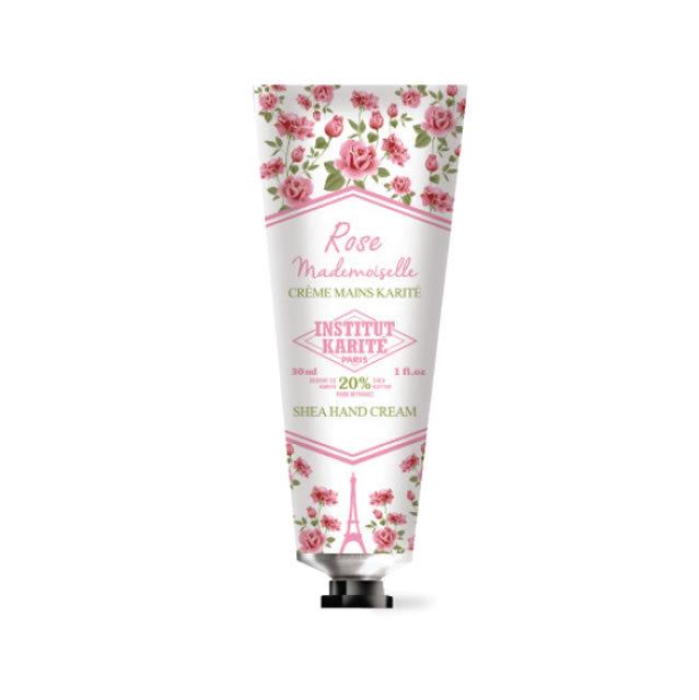 INSTITUT KARITE インスティテュート カリテ Shea Hand Cream (シア ハンドクリーム) Rose Mademoiselle ローズマドモアゼル (クラシックローズ )30ml