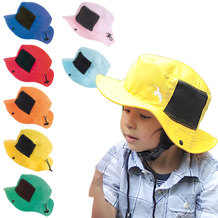 日除け 帽子 サファリハット キッズ フィーリングオブデックス 子供用テンガロンハット 撥水 UVハット(サーフハット/ビーチハット/マリンハット/サンハット/UVカット 帽子 海/日よけ 帽子/つば広)【在庫限りSサイズのみ】