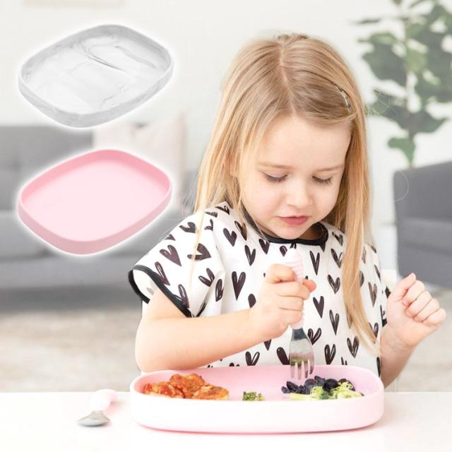 ひっくり返らないベビー食器 バンキンス(bumkins)シリコンプレート お食事セット 離乳食器 吸盤付き お食事マット ベビー 食器 シリコン製 離乳食 くっつくお皿 食洗機対応 赤ちゃん お食い初め 幼児 子ども