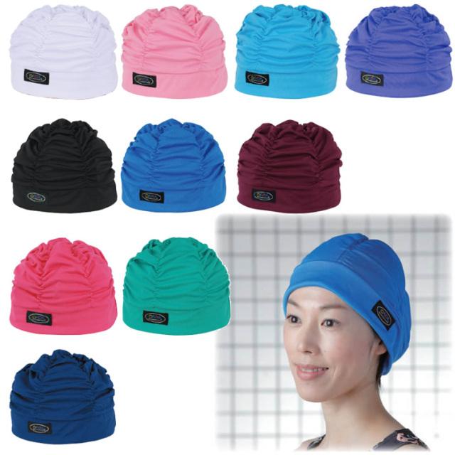 フットマーク 水泳帽 ゆったりアクアキャップギャザー スイムキャップ 水泳キャップ 全10色  スイミングキャップ 水泳 帽子 通販【送料無料】