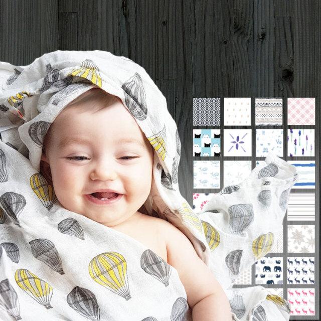 ニューキャッスルクラシックス(New Castle Classics) ベビー スワドル おくるみ スイマーバと同梱で出産祝いにオススメ!(バンブー モスリン/コットン モスリン)ブランケット 夏用 授乳ケープ・湯上りタオルとしても使える男の子・女の子 赤ちゃん ベビー ギフト