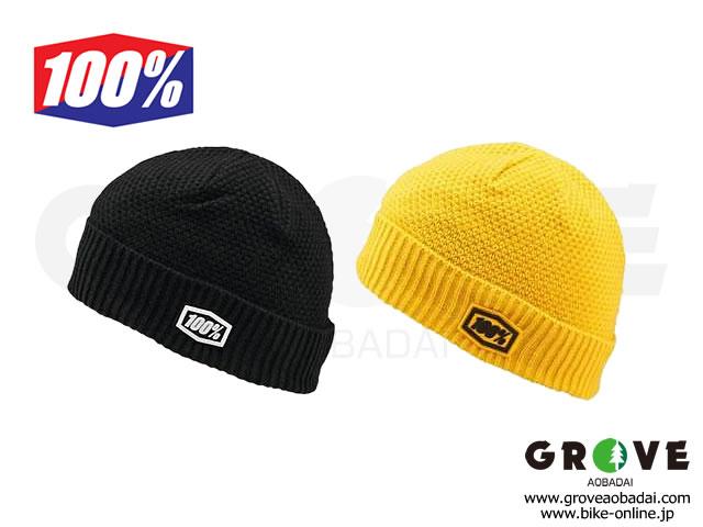 100% Goggle [ CAPITAL Beanie ] ニット帽 Black/Yellow 【GROVE青葉台】